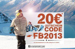 Funsport.de 20 Euro Gutschein