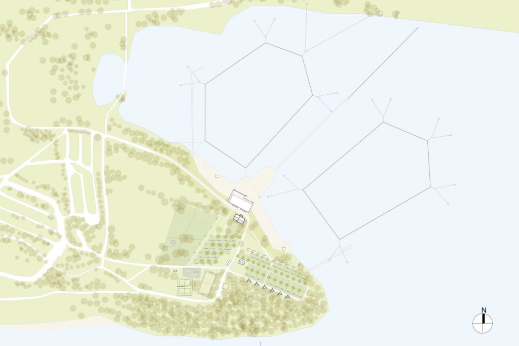 Baustufe 2: Zusätzliche Fünfmastanlage nach mehreren Jahren. Das Anlagenlayout wure gemeinsam mit Sebastian Süß entwickelt.