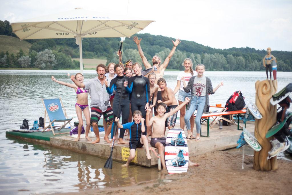Wakeboard-Gruppe an der Zeltwiese Absberg