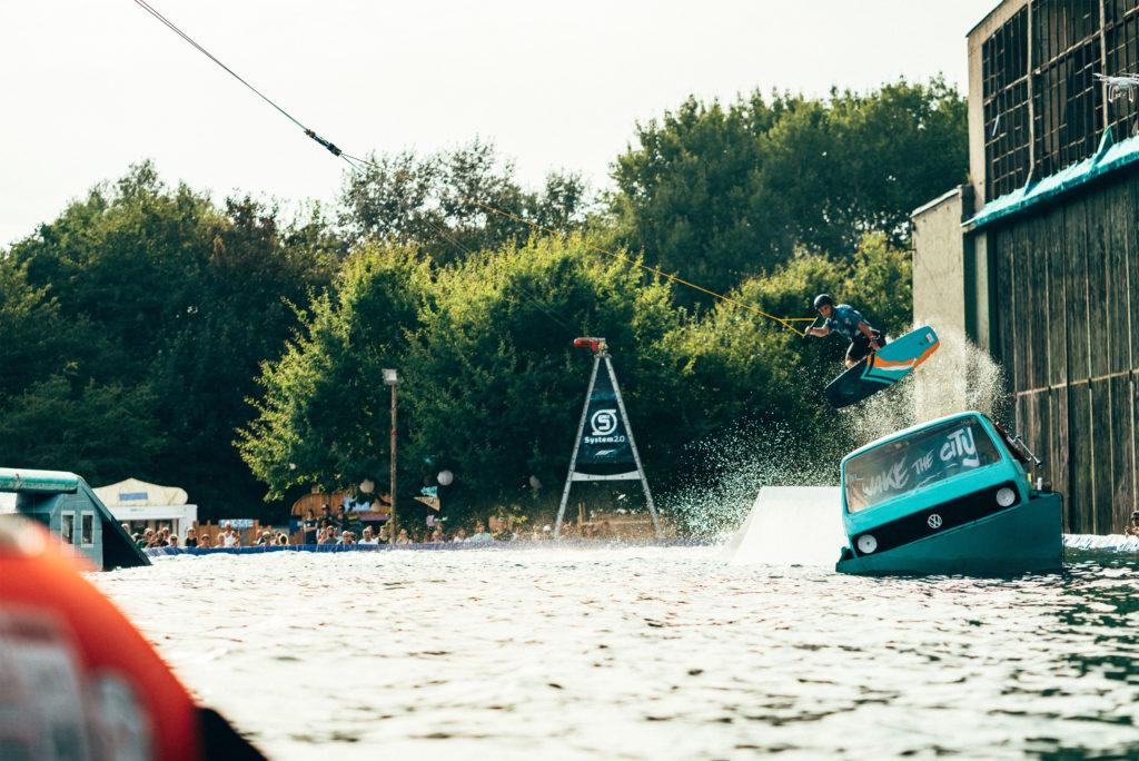 Wakeboarden auf Deutschlands größtem Event-Pool