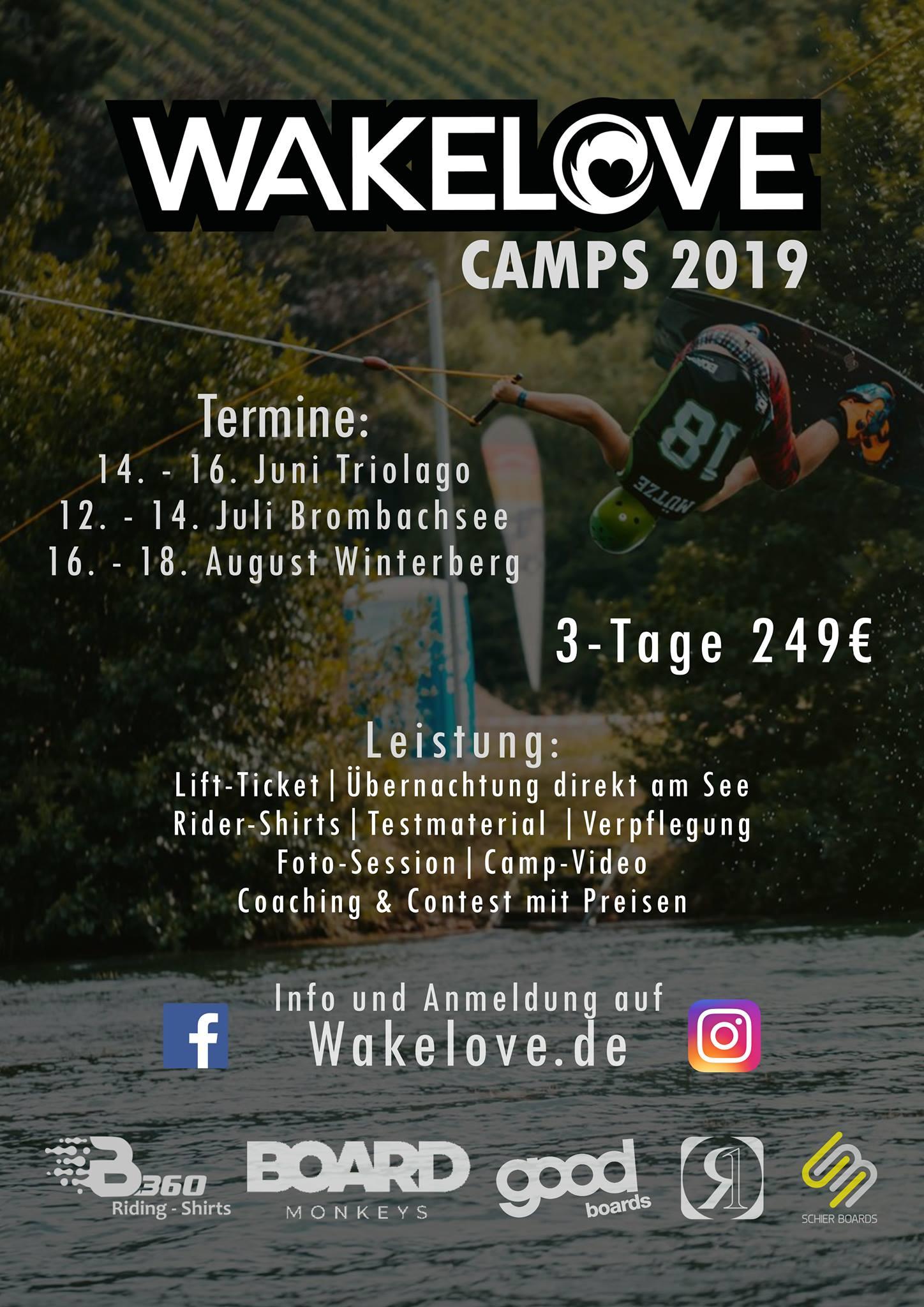 Wakelove Wakeboard-Camps